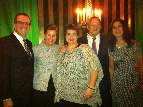 Anthony Freud, me, delightfully wicked witch Jill Grove, Lyric President Ken Piggott and his wife Jane.