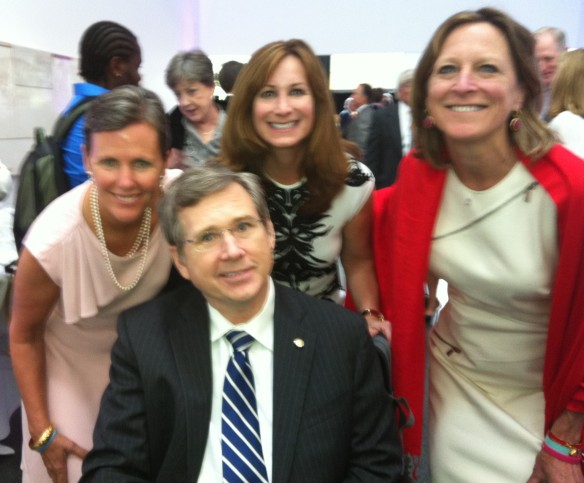 Senator Mark Kirk following his Keynote Address at yesterday's RIC groundbreaking, with me, Winnetka's Bonnie Balkin and Chicago's Julie Allen.