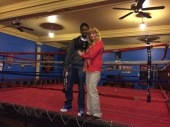 Crusher's Club Sally Hazelgrove and participant Tyvon