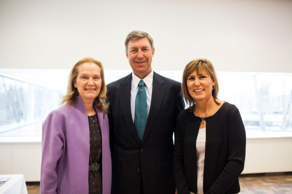 Make It Better President and CEO Francia Harrington with Money, Values and Impact speakers J. Steven Auston of Morgan Stanley and Kathy Roeser of The Roeser Group.