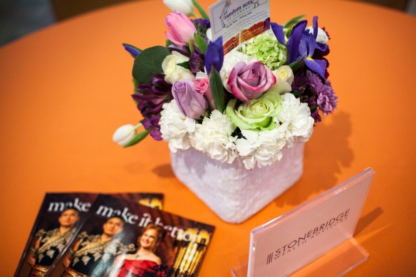 Random Acts of Flowers provided the centerpieces for the event.