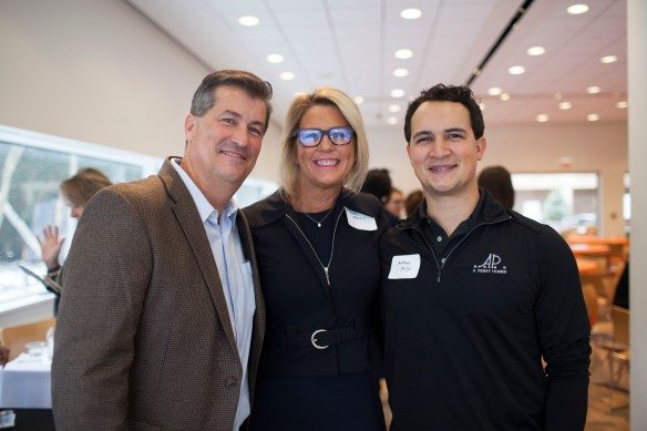 Make It Better Associate Publisher Michelle Morris with Money, Values and Impact sponsors Tony Perry and Anthony Perry of A. Perry Homes.