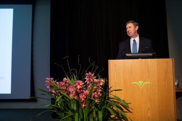 Morgan Stanley's J. Steven Austin welcomes attendees to Money, Values and Impact.