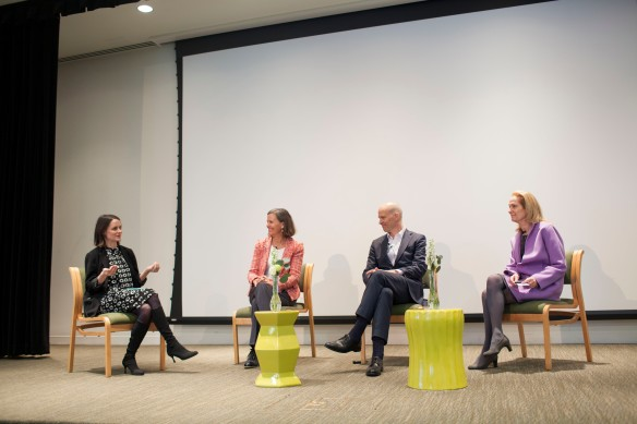 Make It Better Editor-in-Chief Genevieve Lill moderates a panel with Make It Better Founder Susan N. Noyes, Forefront CEO Eric Weinheimer and Make It Better President and Chief Strategy Officer Francia Harrington.