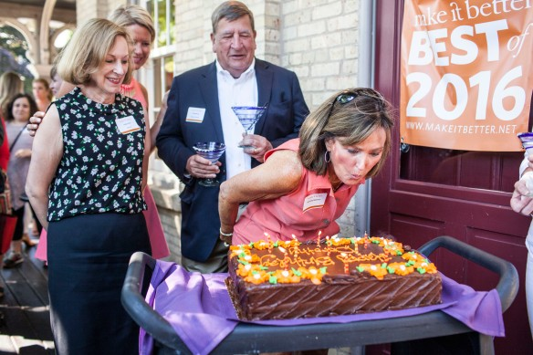 The Best Of Reveal Party also featured a birthday celebration for Dorothy Wehmer with a cake from Bent Fork Bakery.