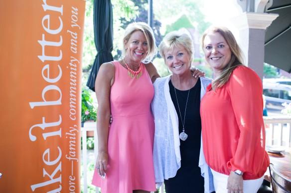 Make It Better's Michelle Morris with Kim Launer and Sophia Kondos of Royal Travel & Tours, the 2016 winner for Best Travel Agent.