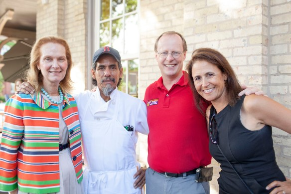 Make It Better's Francia Harrington, Depot Nuevo Chef Hildy, owner Rob Garrison and Make It Better's Lynne Madorsky.