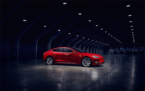 Tesla Model S (Photo courtesy of Tesla.)